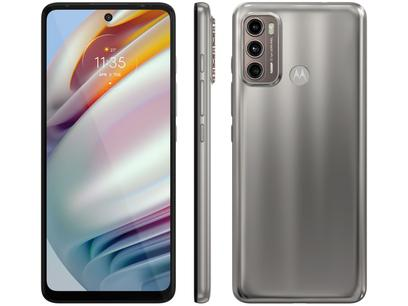 "Smartphone Motorola Moto G60 128GB Champagne 4G - 6GB RAM Tela 6,8"" Câm. Tripla + Selfie 32MP"