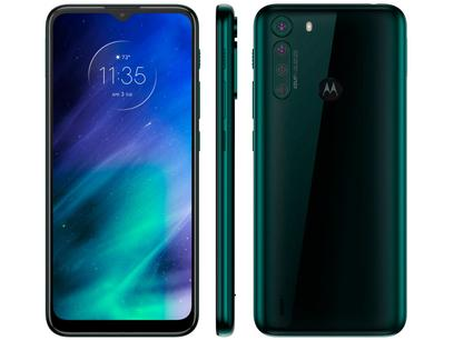 "Smartphone Motorola One Fusion 128GB Verde - Esmeralda 4GB RAM 6,5"" Câm. Quádrupla + Selfie 8MP"