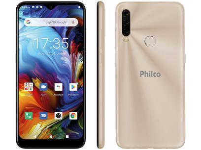 """Smartphone Philco HIT P10 128GB Dourado 4G - Octa-Core 4GB 6,2"""" Câm. Tripla + Selfie 8MP"""