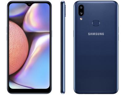 "Smartphone Samsung Galaxy A10s 32GB Azul 4G - Octa-Core 2GB RAM 6,2"" Câm. Dupla + Selfie 8MP"
