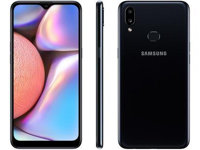 "Smartphone Samsung Galaxy A10s 32GB Preto 4G - 2GB RAM 6,2"" Câm. Dupla + Selfie 8MP"