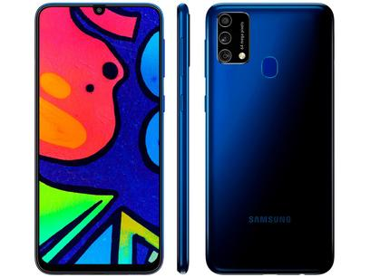 "Smartphone Samsung Galaxy M21s 64GB Azul 4G - Octa-Core 4GB RAM 6,4"" Câm. Tripla + Selfie 32MP"
