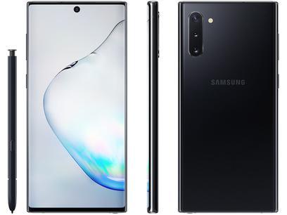 "Smartphone Samsung Galaxy Note 10 256GB Preto 4G - 8GB RAM 6,3"" Câm. Tripla + Câm. Selfie 10MP"