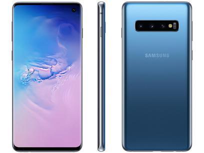 "Smartphone Samsung Galaxy S10 128GB Azul 4G - 8GB RAM 6,1"" Câm. Tripla + Câm. Selfie 10MP"