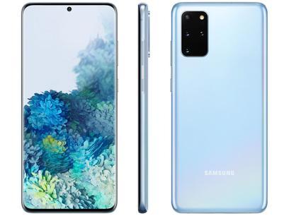 "Smartphone Samsung Galaxy S20+ 128GB Cloud Blue - 8GB RAM Tela 6,7"" Câm. Quádrupla + Selfie 10MP"