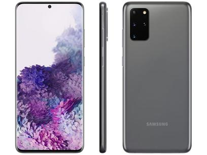 "Smartphone Samsung Galaxy S20+ 128GB Cosmic Gray - 8GB RAM Tela 6,7"" Câm. Quádrupla + Selfie 10MP"