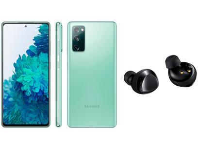 Smartphone Samsung Galaxy S20 FE 128GB Cloud Mint - 6GB RAM + Fone de Ouvido Bluetooth Galaxy Buds+