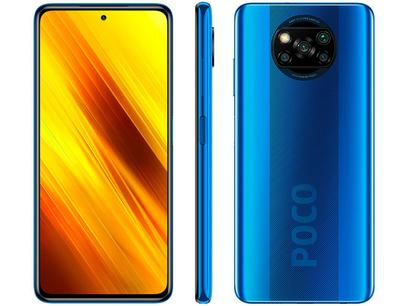 "Smartphone Xiaomi Poco X3 NFC 128GB Azul Octa-Core - 6GB RAM Tela 6,67"" Câm. Quádrupla + Selfie 20MP"