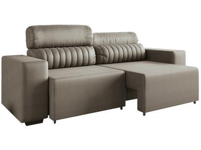 Sofá Retrátil Reclinável 4 Lugares - Revestimento Suede Elite Style Linoforte