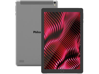 "Tablet Philco PTB10RSG 10"" 3G Wi-Fi 32GB - Android 9 Quad Core Câm. 5MP"