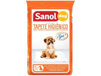Tapete Higiênico Sanol Dog 80x60cm - 7 Unidades