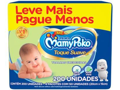 Toalha Umedecida MamyPoko Toque Suave - 200 Unidades