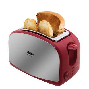 Torradeira Philco French Toast Inox Vermelho 900W