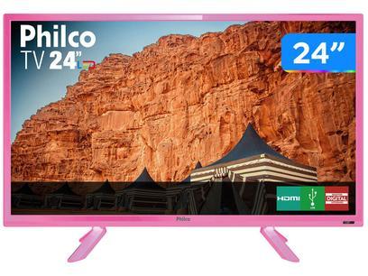 "TV HD D-LED 24"" Philco PTV24C10DR 2 HDMI - 2 HDMI 1 USB"