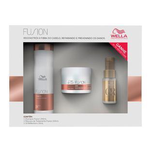 Wella Professionals Fusion + Oil Reflections - Shampoo + Máscara + Óleo