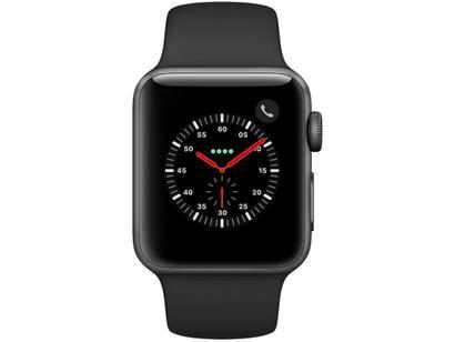 10e3db26bdd Apple Watch Series 3 GPS + Cellular 38mm Wi-Fi - Bluetooth Pulseira  Esportiva 16GB Caixa Aço