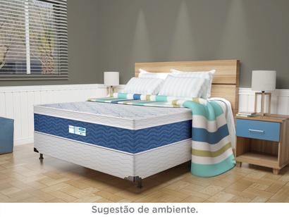 b1bb45981 Base Cama Box Casal ProDormir 38cm de Altura - Tela Branca ...