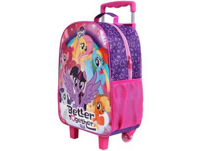 dc9e0507a Mochila Infantil Escolar Feminina de Rodinha - Tam. G DMW Easy My Little  Pony Rosa e Roxo | Magazine Luiza | Troque seus Pontos | Multiplus