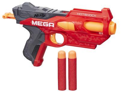4521cd633e710 ... Nerf e Lançadores  Nerf N-Strike Mega Hotshock Blaster Hasbro - 2 Dardos.  Passe o mouse para ver o Zoom