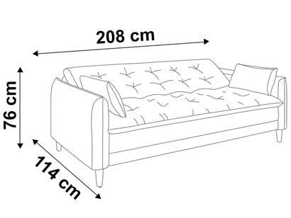 e33dc09cc Sofá-cama Suede Reclinável Linoforte - Estela A2