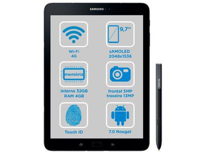 """4a6fa50fee7 ... Tablet Samsung Galaxy Tab S3 T825 32GB 9.7"""" - 4G Android 7.0 Proc. Quad  Core Câm 13MP + Frontal. Passe o mouse para ver o Zoom"""