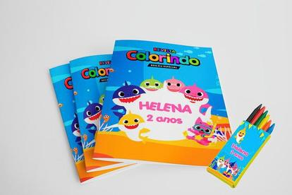 5 Revistinhas Para Colorir Baby Shark Kit De Colorir Magazine