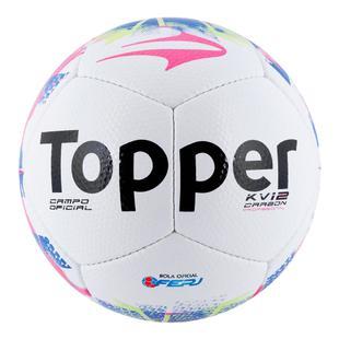 a54982cda5757 Bola Futebol De Campo Topper Kv Carbon 12 Rj 15 - Bolas - Magazine Luiza