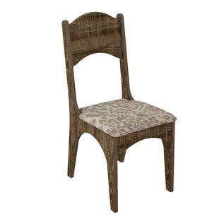 Cadeira CA18 Dalla Costa Assento Estofado Rústico - Cadeiras ... dd993cbb05ef7
