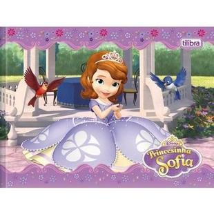 Caderno Brochura Capa Dura Desenho Princesa Sofia 40 Fls Tilibra