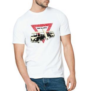 Camiseta Shutt Kombi Surf Casual Branca Estampa Vermelha e Preta ... af18ca9c7f8