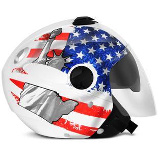 Capacete Aberto Pro Tork New Atomic Bandeira Estados Unidos Usa ... 63e0c6c325b