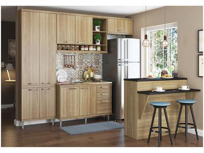 Cozinha Compacta Multimóveis Sicília com Balcão - Cozinhas Compactas ... 92d5bcd20d