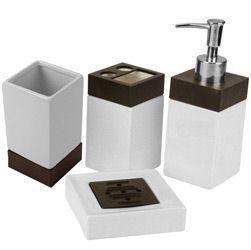 Kit P Banheiro Em Porcelana 4 Peças Bw Quadrado Yangzi