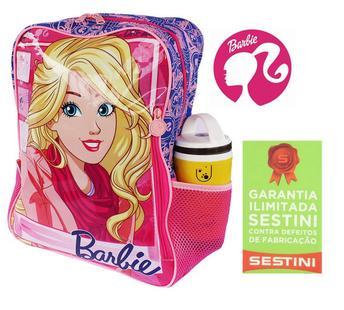 d44a2324c Mochila Infantil Escolar Rosa Grande Barbie Infantil Menina Sestini ...