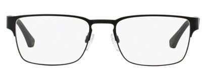 Óculos de Grau Emporio Armani EA1027 3001 Preto Fosco Lentes Tam 55 ... 8389a68657