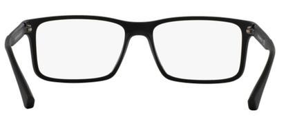 91093bc558516 Óculos de Grau Emporio Armani EA3038 5063 Preto Lentes Tam 56 ...