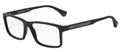 18ac8cbcc73a9 Óculos de Grau Emporio Armani EA3038 5063 Preto Lentes Tam 56 ...