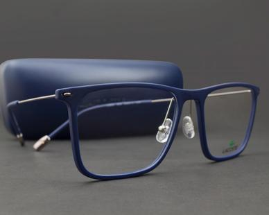 Najnowsza moda fabrycznie autentyczne super jakość Óculos de Grau Lacoste L2829-424-54