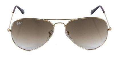 b35f2a94d4524 Óculos de Sol Ray Ban Aviador Clássico RB3025 Ouro Lente Marrom ...