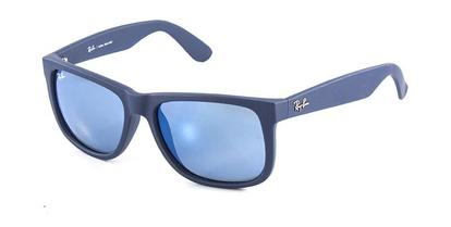 c8563cd8c Óculos de Sol Ray Ban Justin RB4165 Azul Naval Lente Espelhada ...