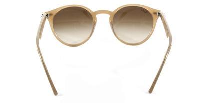 34e489e327ea4 Óculos de Sol Round Stylish Ray Ban RB2180 Nude Translúcido Lentes ...