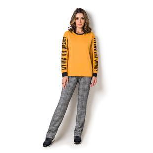 1c78ccd4d0f89f Pijama manga longa feminino - quartier latin - Veggi