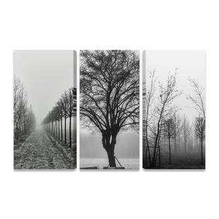 cd5ca67ac Quadros Preto e Branco Árvores Secas Kit 3 Telas Tecido PQ - Quadros ...