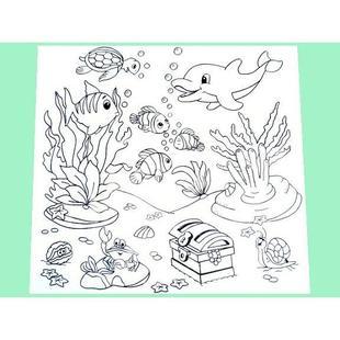 Tapete P Colorir Fundo Do Mar Kits For Kids Brinquedos
