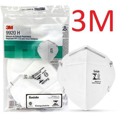 Imagem de 05 Máscaras 3M PFF2 9920H Hospitalar com registro Anvisa e selo Inmetro CA 17611 n95