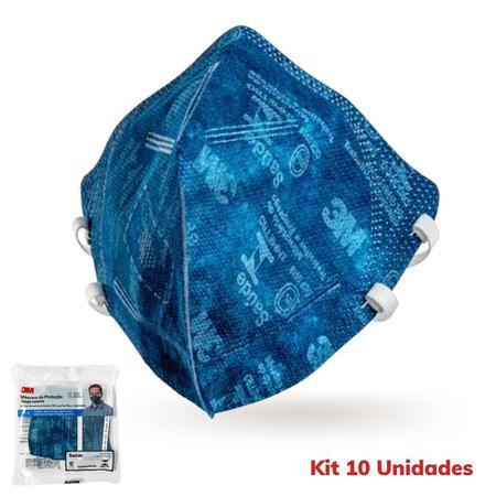 Imagem de 10 Máscaras 3m Pff2  9820 Proteção Respiratória Selo Anvisa  e Inmetro