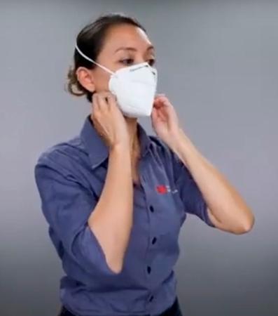 Imagem de 10 Máscaras 3m Pff2 9920H Hospitalar Proteção Respiratória Contra Agentes Biológicos Selo Anvisa  e Inmetro