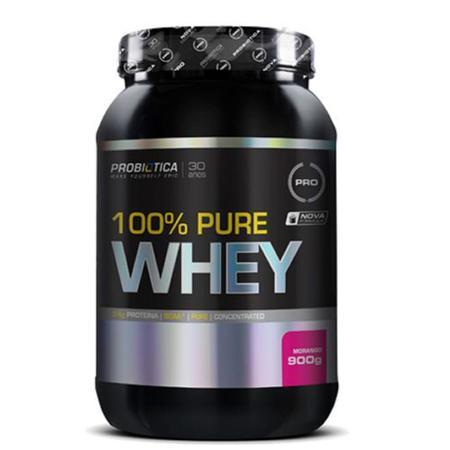Imagem de 100% Pure Whey - 900g Morango - Probiótica