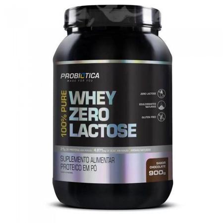 Imagem de 100% Pure Whey Zero Lactose 900g Probiótica Vários Sabores