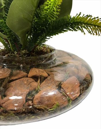 Imagem de Arranjo Artificial Copos de Leite Vaso Terrário Vidro Transparente-71107